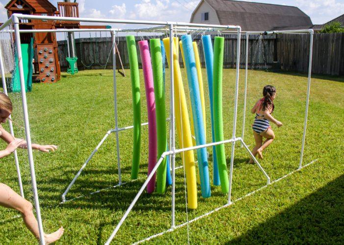 Summer activities for kids: DIY sprinkler relay