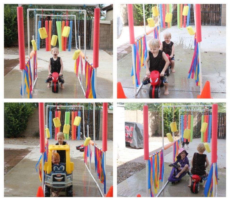 Summer activities for kids: DIY kiddie car wash
