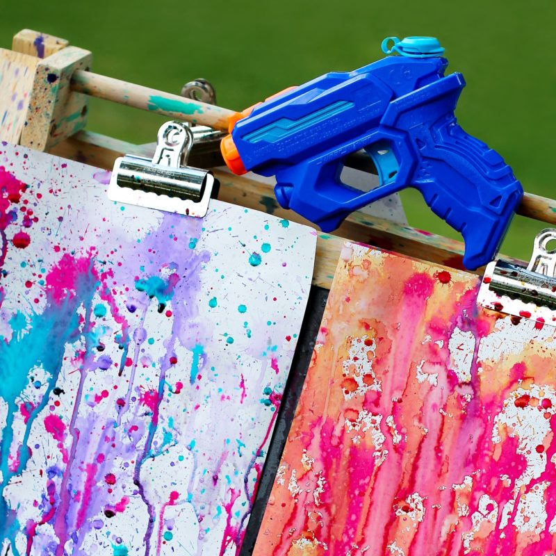 Painting with water guns