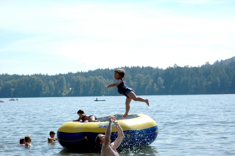 Ways to stay cool: Water trampoline