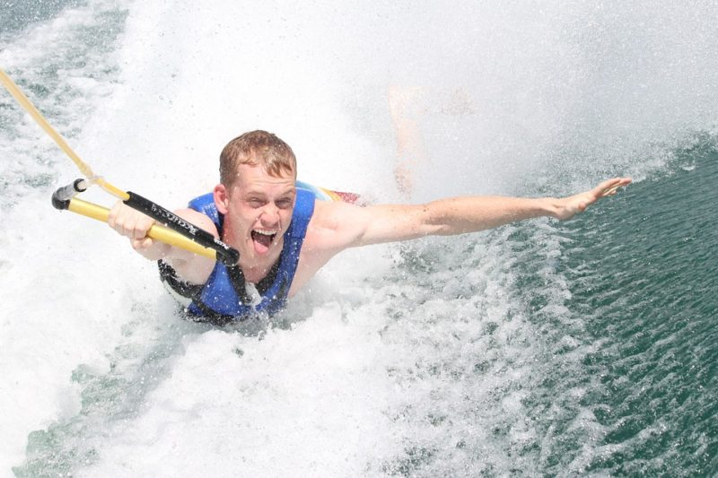 Ways to stay cool: Water skiing