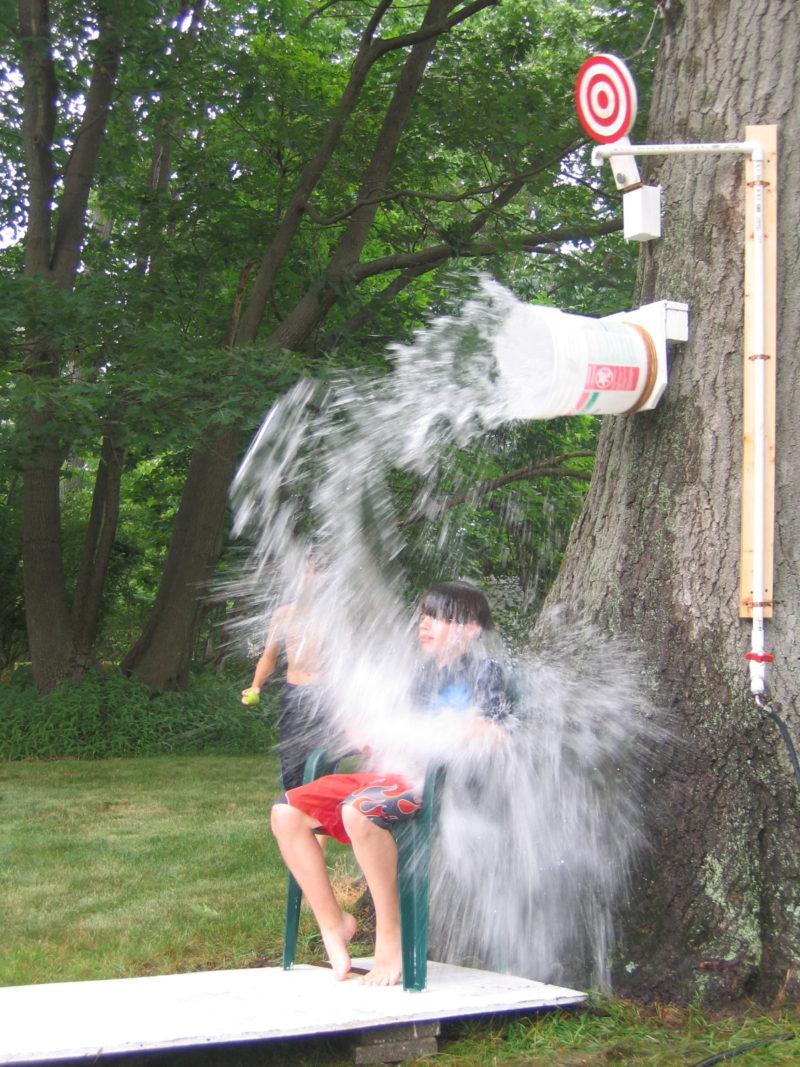 Summer activities for kids: DIY dunk bucket