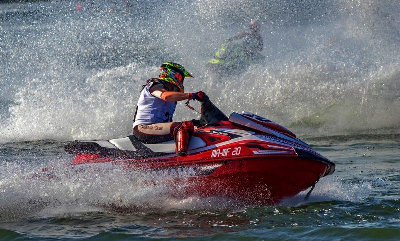 Ways to stay cool: Jet ski
