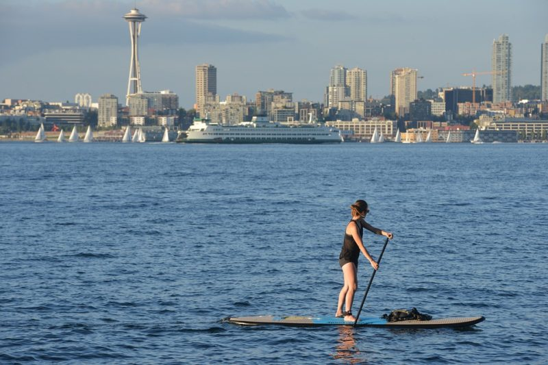 Ways to stay cool: Paddle board