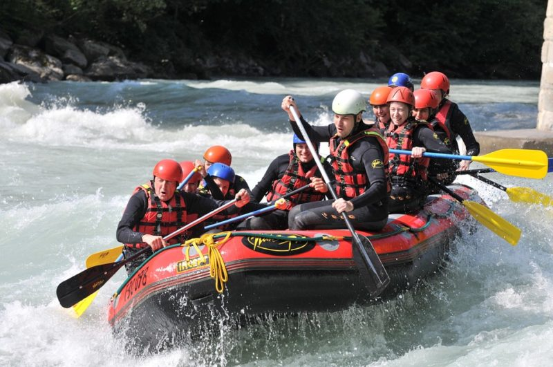 Ways to stay cool: White water rafting