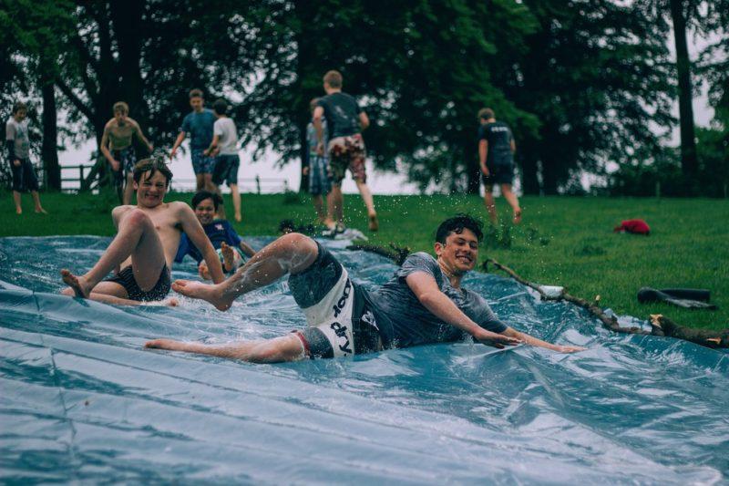 Ways to stay cool: Slip n slide