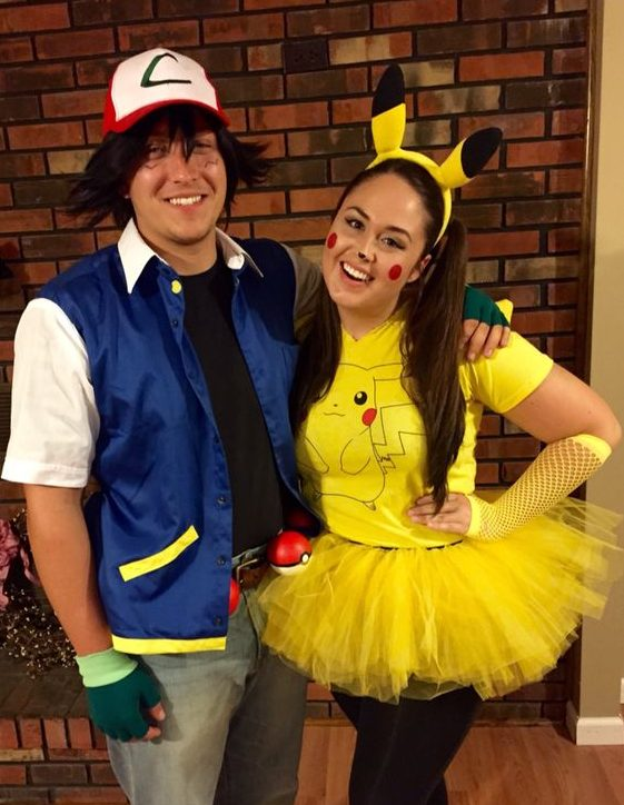 Ash and Pikachu adult halloween costumes