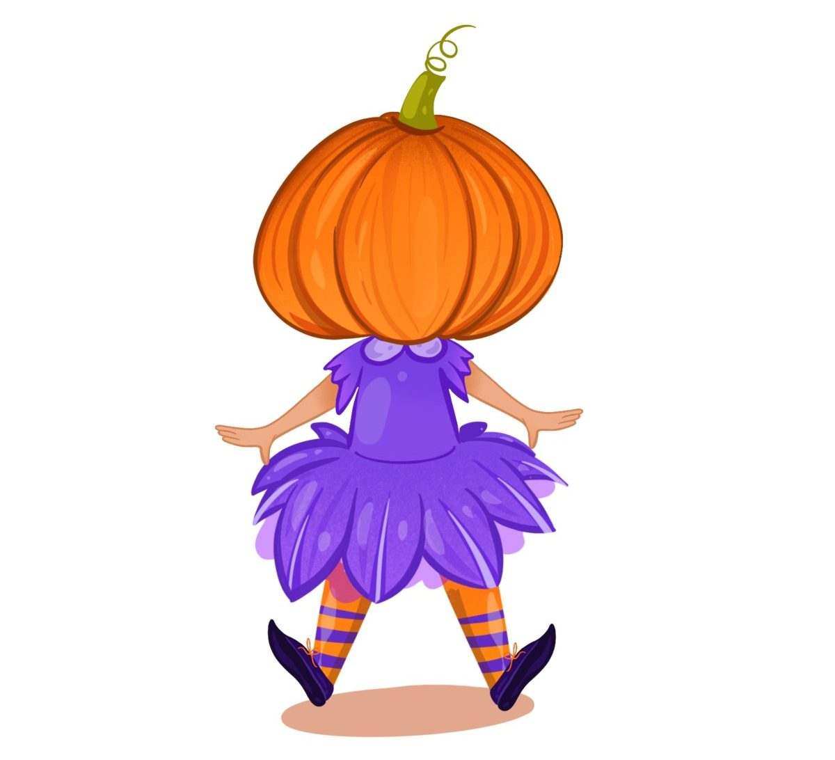 Penny with pumpkin head